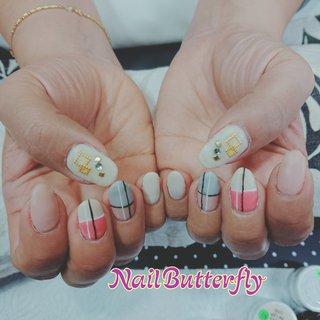 #オールシーズン #オフィス #女子会 #ワンカラー #バイカラー #ベージュ #ピンク #グレージュ #お客様 #Nail Butterfly_Kayoko #ネイルブック