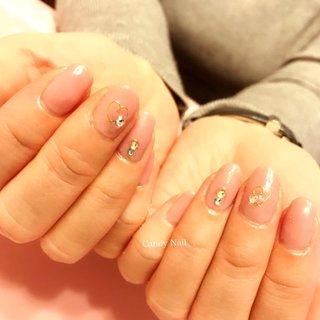 ハートネイル♡ シアーなくすみピンクが 大人可愛いから オフィスにもオススメです˚✧₊⁎⁺˳✧༚  #シンプルネイル #大人可愛いネイル #上品ネイル #オールシーズン #ハンド #千花 #ネイルブック