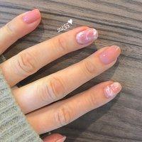 #ピンクネイル #マーブルネイルデザイン #可愛いネイル #肌馴染みカラー #シンプルネイル #ワンカラーネイル #オトナネイル #熊本市北区ネイルサロン #2255nail #ネイルブック