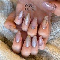 nuance stone💅 ︙ #gelnail#gel#nailspell#nailstagrame #nailsalonspell #nails #春ネイル#ネイル#手描きアート#ジェルネイル#ネイルデザイン#ニュアンスネイル#ネイルブック #kokoist#ラメネイル#天然石ネイル#上田市ネイルサロン#大理石ネイル#nuancenail #stonenails #nailSpell_azusa #ネイルブック
