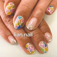 #ハンド #ショート #カラフル #ジェル #お客様 #lian.nail〜リアンネイル〜 #ネイルブック
