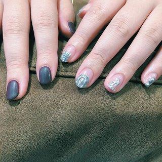 ネット予約可能です🐬#nail#nails#naildesign #ネイルサロン#佐世保ネイル #佐世保ネイルサロン#nailbynao #ハンド #アンティーク #エスニック #ニュアンス #ショート #ジェル #NAO #ネイルブック