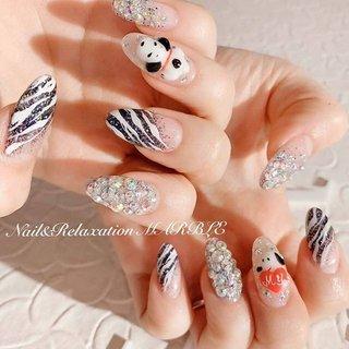 派手ネイルです(*^O^*)🎵 ※キャラ3Dの場合、このご予約の際に要問合になります  #ネイル #ネイルデザイン #シンプル #ネイルサロン #加古川ネイル #シンプルネイル #デザインネイル #ネイルアンドリラクゼーションマーブル #nails #大人ネイル #加古川 #加古川ネイルサロン #marble #gelnails #スヌーピーネイル #スヌーピー #3Dネイル #派手ネイル #お洒落ネイル #キャラネイル #オールシーズン #パーティー #デート #女子会 #ハンド #ビジュー #アニマル柄 #キャラクター #3D #ロング #ブラック #ジェル #お客様 #nail_marble #ネイルブック