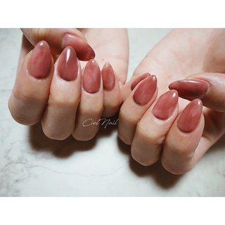 #シンプル #ワンカラー #ムラ塗り #もやもや #ピンク #オフィスネイル #ちゅるんネイル #赤 #赤ピンク #cielnail___ #ネイルブック
