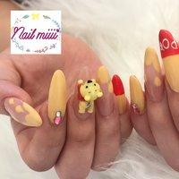 プーさんネイル💅 ありがとうございます♥️ #nail miiii #ネイルブック