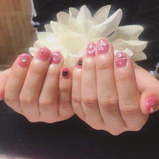 #オールシーズン #ハンド #ミディアム #ピンク #ジェル #お客様 #A-nail #ネイルブック
