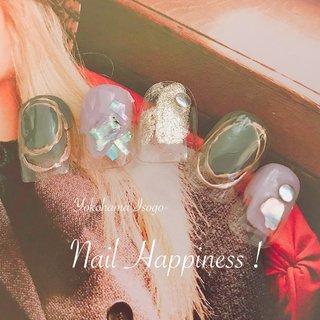 #ショートネイル #かっこいい大人ネイル#メタリックネイル #磯子ネイルサロン #オールシーズン #旅行 #ライブ #女子会 #ハンド #ビジュー #シースルー #大理石 #ニュアンス #アースカラー #Nail Happiness!(ネイルハピネス)*ささきまき #ネイルブック