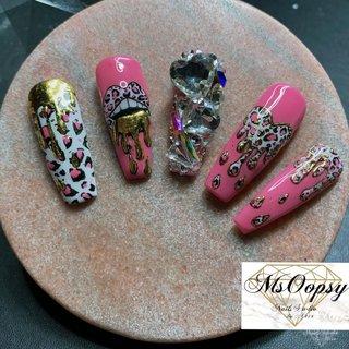 #nails #instanails #nailartist #nailarts #naildesign #instalike #pink #nails💅 #leopardnails #leopard #msoopsynails #handpainted #MsOopSy OopSy #ネイルブック