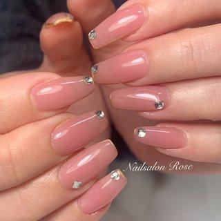#シンプル #ワンカラー #ピンク #nailsalon Rose #ネイルブック