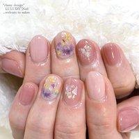 #ボタニカルキャンドルネイル #ピンク #luludynail #ネイルブック