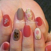 #春ネイル #チューリップネイル #オフィスネイル #nailsalonembellir #高松ネイルサロン #Nail salon Embellir #ネイルブック