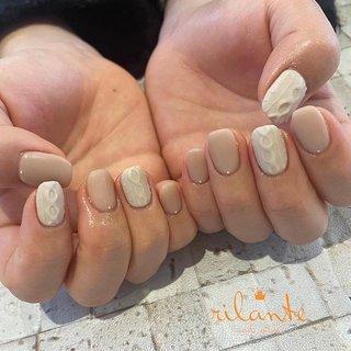 𓆸 . . 𓊿⌇knit 𓆱 ❥ free design . . .  nails by Rina 𓍢𓏲 ﹉﹉﹉﹉﹉﹉﹉﹉﹉﹉﹉﹉﹉﹉ free design ¥9000 +tax ( 90分アート パーツのせ放題 ) selection design ¥6500 +tax ( 50種類の決まったアートから選択 ) ﹉﹉﹉﹉﹉﹉﹉﹉﹉﹉﹉﹉﹉﹉ ご予約はDM . LINEからもお気軽にどうぞ ✉︎ ❤︎ nail salon rilante ☎︎0766-53-5758 LINE : @vzk7732x 高岡市佐野1169 open平日9:30-19:00(L.O) 土日祝9:00-18:00(L.O) close 月曜.第3日曜日 . #nail #nails #nailart #naildesign #nailist #art #instanails #fashion #네일 #美甲 #ネイル #ネイルアート #ネイルデザイン #ジェル #ジェルネイル #お洒落さんと繋がりたい #ファッション #高岡ネイルサロン #高岡ネイル #富山ネイルサロン #富山美容室 #高岡市美容室 #ネイルデザイン #トレンドネイル #冬ネイル #オフィスネイル #ニュアンスネイル #個性派ネイル #ちぐはぐネイル #ニットネイル #マットネイル #冬 #シンプル #ニット #マット #ホワイト #ベージュ #ジェル #お客様 #nail salon rilante #ネイルブック
