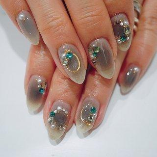 #チークネイル#グレー#冬ネイル #大人ネイル #ange nail salon #ネイルブック
