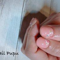 #春 #ハンド #フラワー #ピンク #ジェル #お客様 #Nail Pupu #ネイルブック