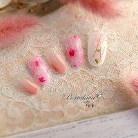 . たらしこみ桜ネイル🌸🐰🍓 . . . 桜の水彩ネイルです、 天然石、グリーンのシェルやピンク糸も入れました☺︎ . . いつもありがとうございます♡   #花ネイル #春ネイル #水彩ネイル #水彩フラワー#ピンクネイル #桜ネイル #フラワーネイル #ニュアンスフラワー #たらしこみ #フラワー #たらしこみ #ホワイト #ピンク #Portulaca #ネイルブック