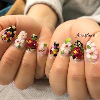 🌸CherryBlossoms🇯🇵. . #fuwafuwa #cherryblossom #cherryblossomsnails #椿 #camellia #japan #桜ネイル #桜 #春ネイル #spring #springnail #springnails #3dネイル #立体ネイル #art #美甲 #3d藝術 #関内ネイルサロン #関内ネイル #春 #冬 #旅行 #パーティー #ハンド #フラワー #レトロ #和 #ミディアム #レッド #ブラック #カラフル #ジェル #お客様 #fuwafuwa-takako #ネイルブック