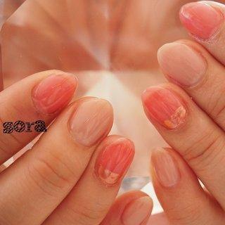 #ハンド #ミラー #ピンク #ジェル #お客様 #そらみ #ネイルブック