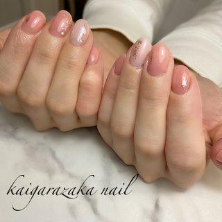 #春 #卒業式 #入学式 #オフィス #ハンド #シンプル #ラメ #ショート #ホワイト #ピンク #ジェル #お客様 #Haruka Hashimoto #ネイルブック