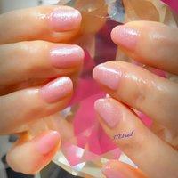 シンプルワンカラー✨ ピンクにパールをMIXして落ち着きをプラス✨ 70代のご新規のお客様😊 ありがとうございました♡ #オールシーズン #ハンド #シンプル #ショート #ピンク #ジェル #お客様 #aya #ネイルブック