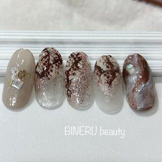 パイソンネイル💕 #パイソン柄ネイル #春ネイル #BINERU beauty #BINERU beauty #ネイルブック