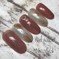 #ジェルネイル #nail#シンプルネイルデザイン #ワンカラーネイル #ニュアンスネイル #オールシーズン #ハンド #ホワイト #ピンク #ブラウン #nailsalon Nico&U #ネイルブック