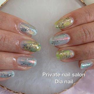 #春 #ハンド #グラデーション #Private nail salon Dia nail #ネイルブック