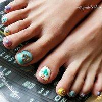 #pop👣 . . . サボテンかわいい💞 いつもありがとうございます🙇 . . . #VERY NAIL  #very nail  #京都市右京区#右京区ネイルサロン#西院#ハンドフット同時施術#フットネイル#ネイルデザイン##nail design #foot nail #サボテン#サボテンネイル#カラフルネイル#ポップネイル #おうちネイルOHANA #鳴滝#宇多野 #春 #夏 #フット #エスニック #ネイティブ #ショート #カラフル #ジェル #お客様 #おうち♡ネイルohana #ネイルブック