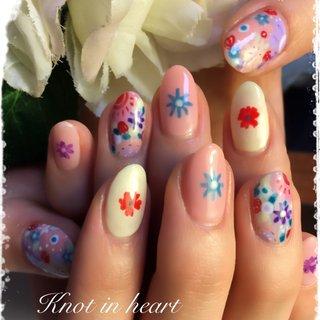 #花#オリエンタル #春 #ハンド #knot in heart #ネイルブック
