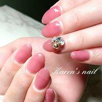 maoジェル新色 ワンカラー #karen's nail rierin #ネイルブック