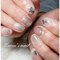 2月ミディコースデザイン #karen's nail rierin #ネイルブック