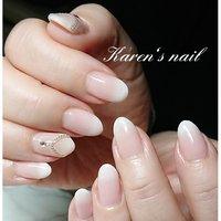 ナチュラルホワイトグラデーション #karen's nail rierin #ネイルブック