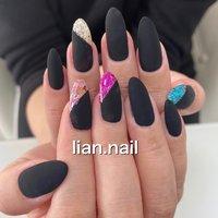 #ハンド #ピンク #ブルー #ブラック #ジェル #お客様 #lian.nail〜リアンネイル〜 #ネイルブック