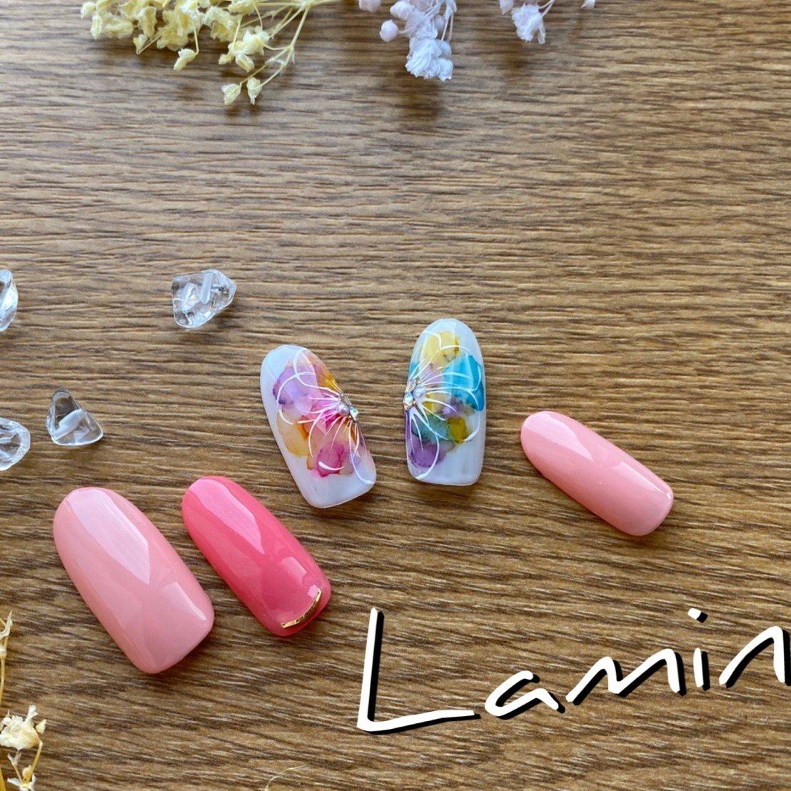 #Lamine #ネイルブック
