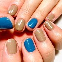 #ワンカラー#ショートネイル #azul nail #ネイルブック