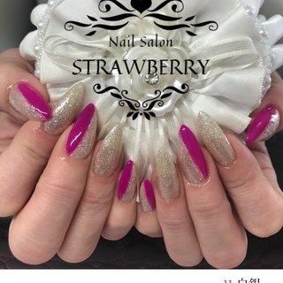 #ラメ#自爪ロング #Nailsalon strawberry (ネイルサロン ストロベリー) オートネイル導入店 オートネイルマスター講師 #ネイルブック