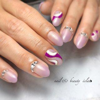 #プッチ #パープル #グラデーション #nail & beauty éclat❥ #ネイルブック