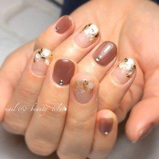 #ショートネイル#シェルネイル#金箔ネイル #nail & beauty éclat❥ #ネイルブック