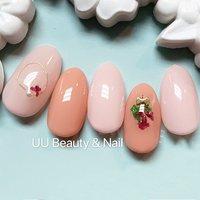 #ピンク#春 #押し花 #ワイヤー #UU Beauty &Nail #ネイルブック