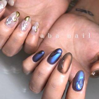 _  いつもありがとうございます!✨ #シンプルネイル#nail#nails#名古屋ネイルサロン#nailstagram#eye#美甲#個性派ネイル#ニュアンスネイル#名古屋サロン#blue#art#artwork#artist#artistry#artworks#ネイル#art#nailfashion#nailscompetition#competition#instagood#instafashion#instapic#個性的ネイル#ネイル サロン #春 #夏 #オールシーズン #ハンド #ワンカラー #ニュアンス #ミディアム #ブルー #ネイビー #パープル #tae_nail #ネイルブック