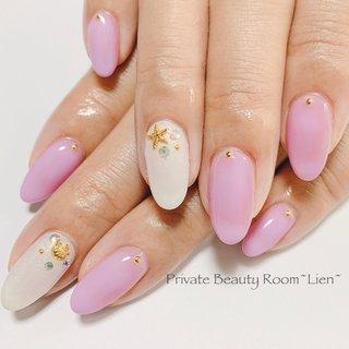 ・ お客様nail♡ ・ ・ いつもありがとうございます♡ ・ ・ 完全予約制 ・ ・ private☆nail☆room~Lien~ ・ ・  #nail#gel#nailart#nailstagram#gelnail#nailart #naildesign#hand#foot#Japannail#tokyo #like4like #美爪#大人nail#ニュアンスネイル#ミラーネイル#クリアネイル#キラキラネイル#ビジューネイル#抜け感ネイル#ピンクネイル #夏 #ハンド #マリン #ミディアム #ピンク #ジェル #お客様 #Lien Nail #ネイルブック