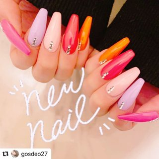 #Repost @gosdeo27 with @make_repost ・・・ #newnails#nails#springcolornails#colorfulnails#nailsgogo #スカルプチュア #NAILSGOGO shibuya nailsalon #ネイルブック
