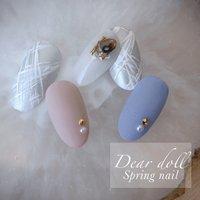 春ネイルでも甘くなりすぎずに #かっこよく決めたい✨ #ハンド #Dear doll #ネイルブック