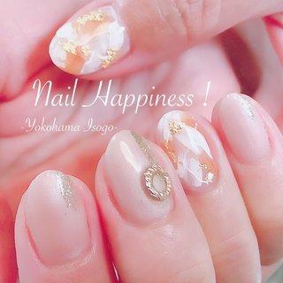 #ニュアンスネイル #ベージュニュアンスネイル #磯子ネイルサロン #オールシーズン #リゾート #パーティー #女子会 #ニュアンス #ベージュ #ブラウン #お客様 #Nail Happiness!(ネイルハピネス)*ささきまき #ネイルブック