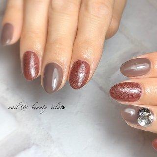 #ベタ塗り #ワンカラーネイル #シンプル #nail & beauty éclat❥ #ネイルブック
