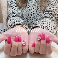 #nail #nailart #ネイル #ネイルアート #ネイルデザイン #ネイルサンプル #ネイリスト #photo #シンプルネイル #pink #スワロ #Swarovski #可愛い #cute #fashion #beauty #ネイル好き #美甲 #ブライダル #bridal #ブライダルネイル #ウエディング #love #happy #japan #tokyo #恵比寿 #代官山 #ハンド #from_aoi_nail #ネイルブック