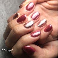 #ピンクミラーネイル #ハンド #ミラー #ショート #ピンク #ジェル #private salon Hoimi! #ネイルブック