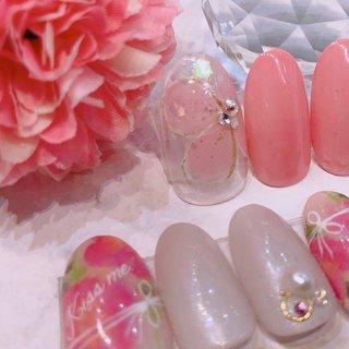 #お花 #春 #flower #spring #Hand #Nail #lattenail_kokura #ネイルブック