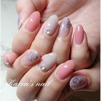 3月ミディコースデザイン #karen's nail rierin #ネイルブック