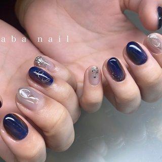 _  いつもありがとうございます!✨ #シンプルネイル#nail#nails#名古屋ネイルサロン#nailstagram#eye#美甲#個性派ネイル#ニュアンスネイル#名古屋サロン#blue#art#artwork#artist#artistry#artworks#ネイル#art#nailfashion#nailscompetition#competition#instagood#instafashion#instapic#個性的ネイル#ネイル サロン #春 #夏 #オールシーズン #ハンド #シースルー #ニュアンス #ショート #ブルー #ネイビー #グレー #ジェル #tae_nail #ネイルブック