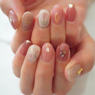 #春ネイル#大人かわいい#ショートネイル#ピンク #ange nail salon #ネイルブック